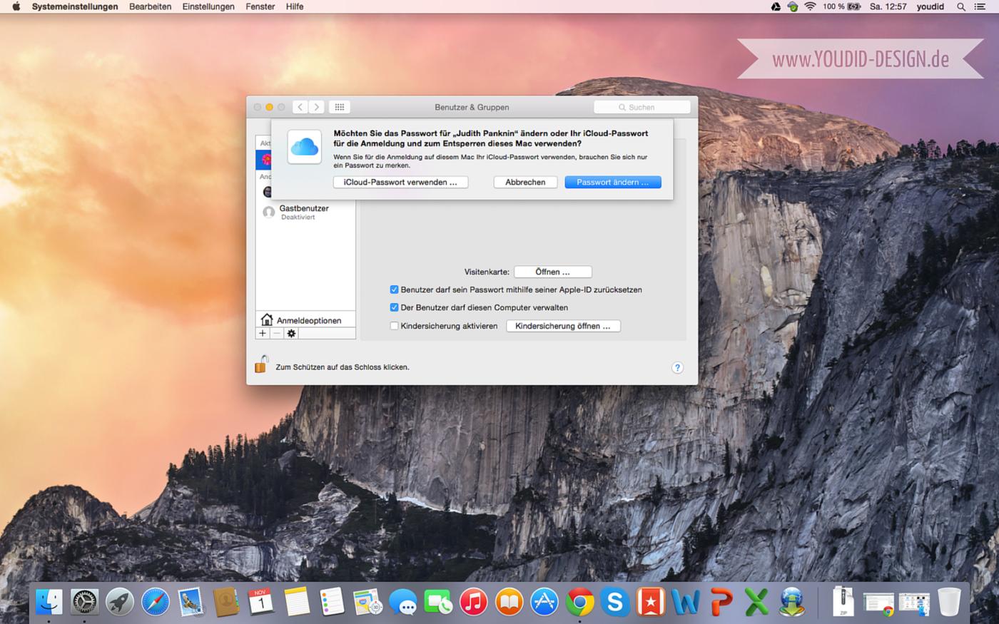 Automatische Anmeldung in Mac OS X aktivieren | www.youdid-design.de