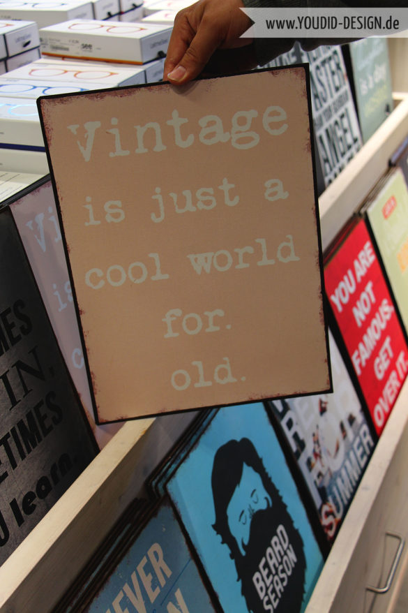 Vintage is just a cool world for old | www.youdid-design.de