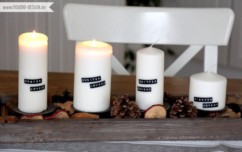 Adventskranz mit Dymo | www.youdid-design.de