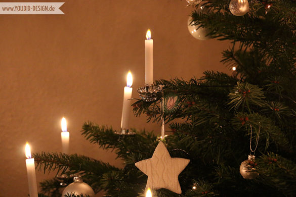 Echte Kerzen am Weihnachtsbaum | www.youdid-design.de