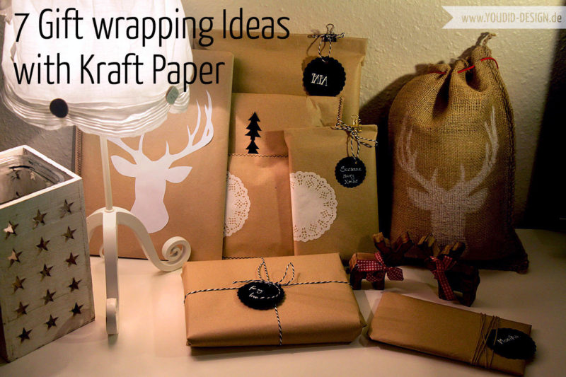 Gift Wrapping Black and White Kraft Paper | www.youdid-design.de