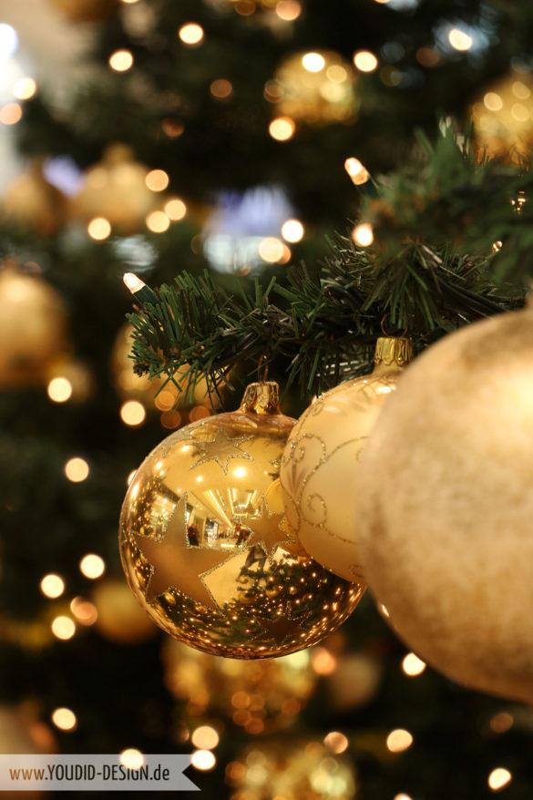 Goldener Weihnachtsbaumschmuck | www.youdid-design.de