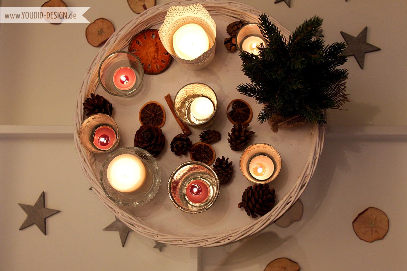 Kerzensammlung Weihnachten | www.youdid-design.de