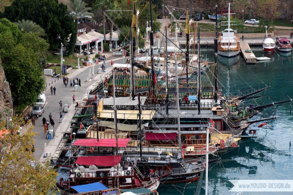 Segelboote im Hafen von Antalya | youdid-design.de