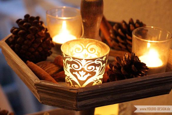 Weihnachten Kerzendeko | www.youdid-design.de