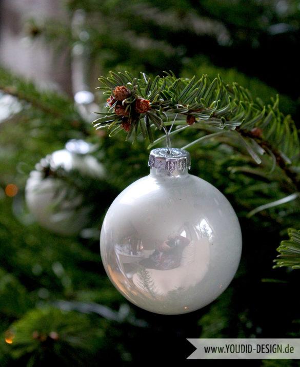 silberner Weihnachtsbaumschmuck | www.youdid-design.de