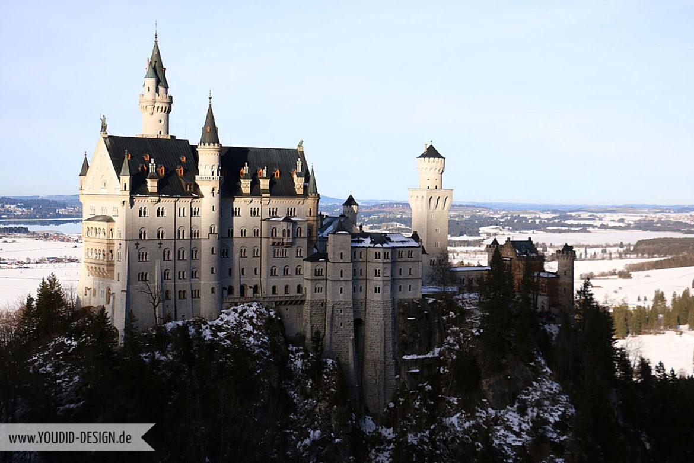 Schloss Neuschwanstein König Ludwig | www.youdid-design.de