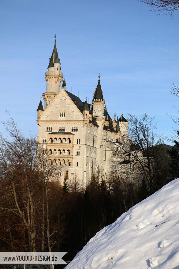 Schloss Neuschwanstein im Winter | www.youdid-design.de