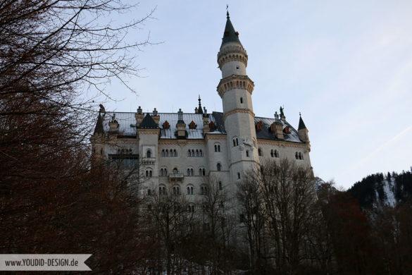 Schloss Neuschwanstein in der Dämmerung | www.youdid-design.de
