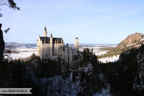 Schloss Neuschwanstein von der Marienbrücke | www.youdid-design.de