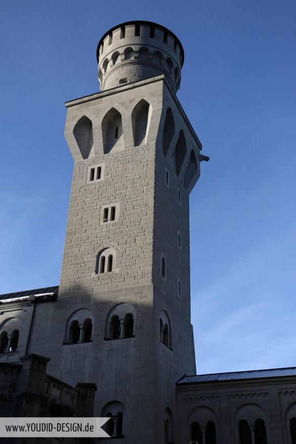 Turm von Schloss Neuschwanstein | www.youdid-design.de