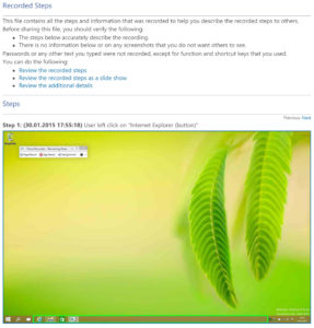 Steps Recorder - New Feature in Windows 10 | www.youdid-design.de