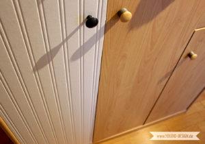 beadboard tapete auf m bel kleben youdid. Black Bedroom Furniture Sets. Home Design Ideas