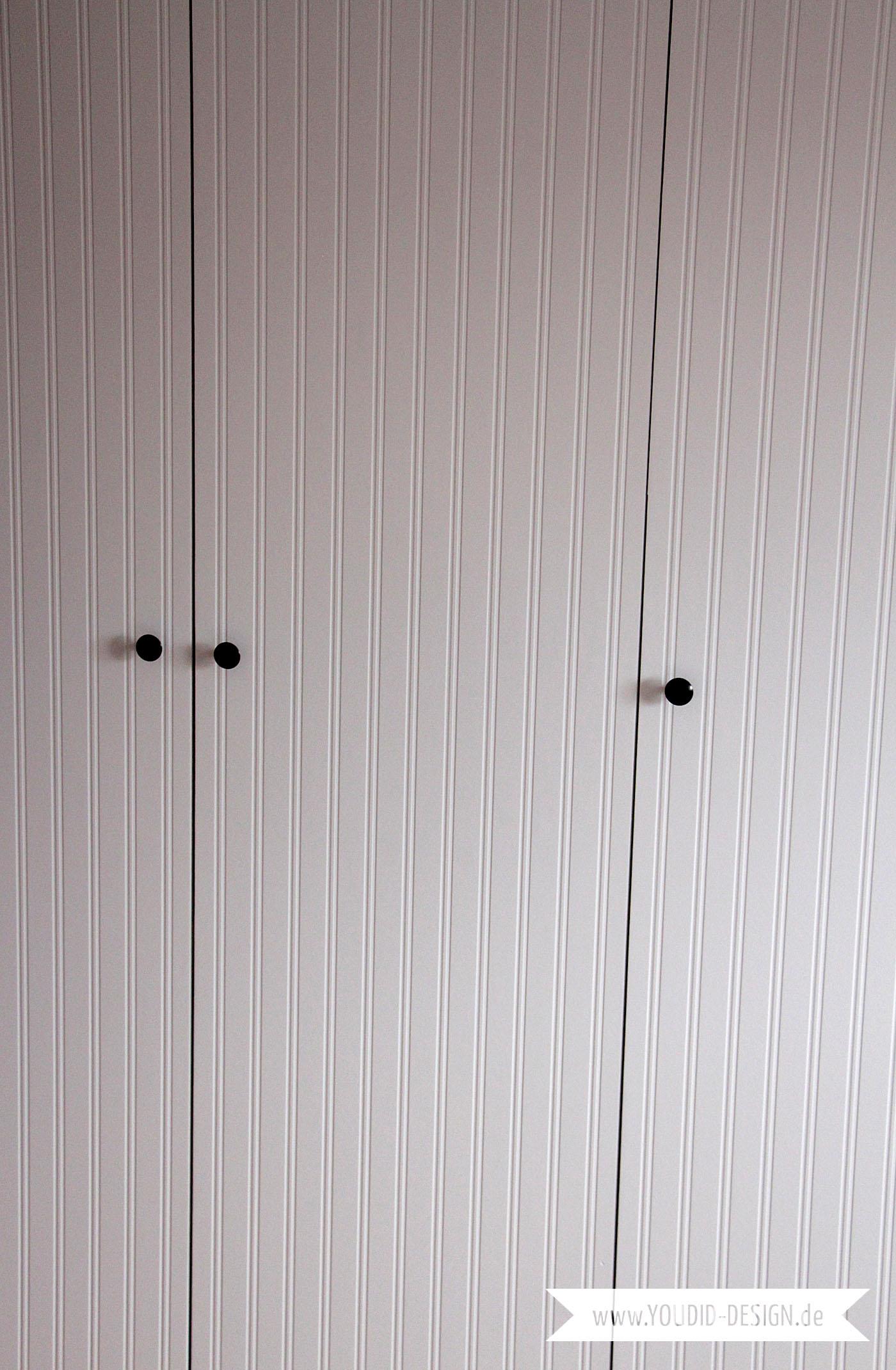 Ikea Hack Pax Kleiderschrank Makeover Mit Beadboard Wallpaper