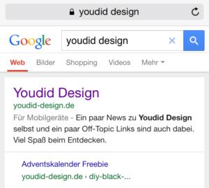 Bisherige Darstellung der Suche | www.youdid-design.de