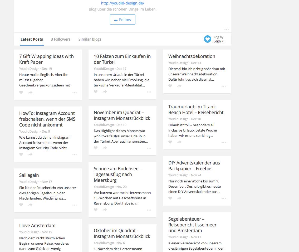 Bloglovin zeigt keine Bilder an| www.youdid-design.de