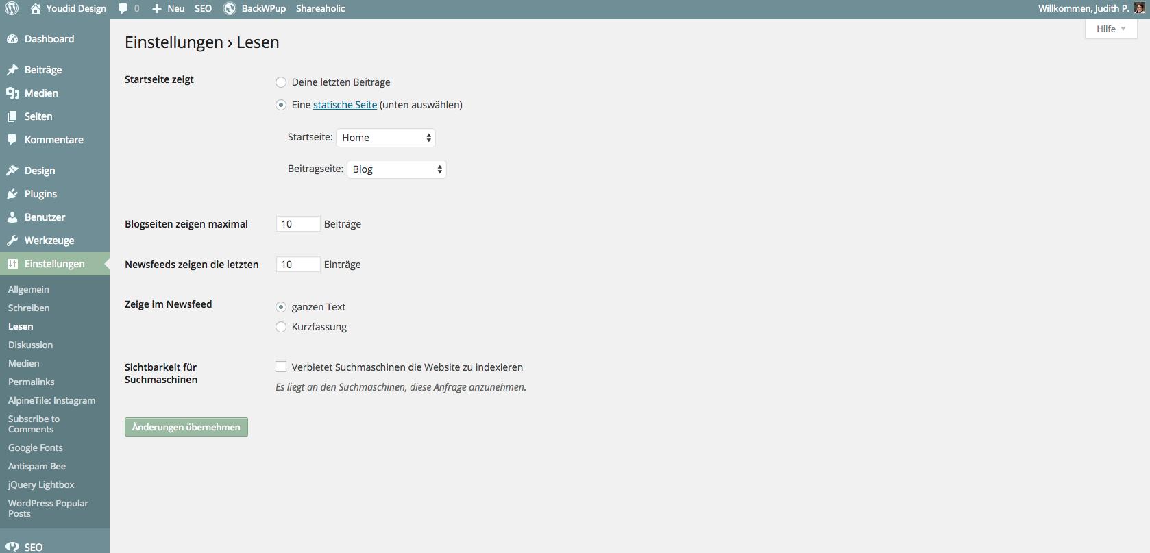 Bloglovin Bilder wieder anzeigen WordPress Einstellung | www.youdid-design.de