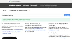 Test auf Optimierung für Mobilgeräte | www.youdid-design.de
