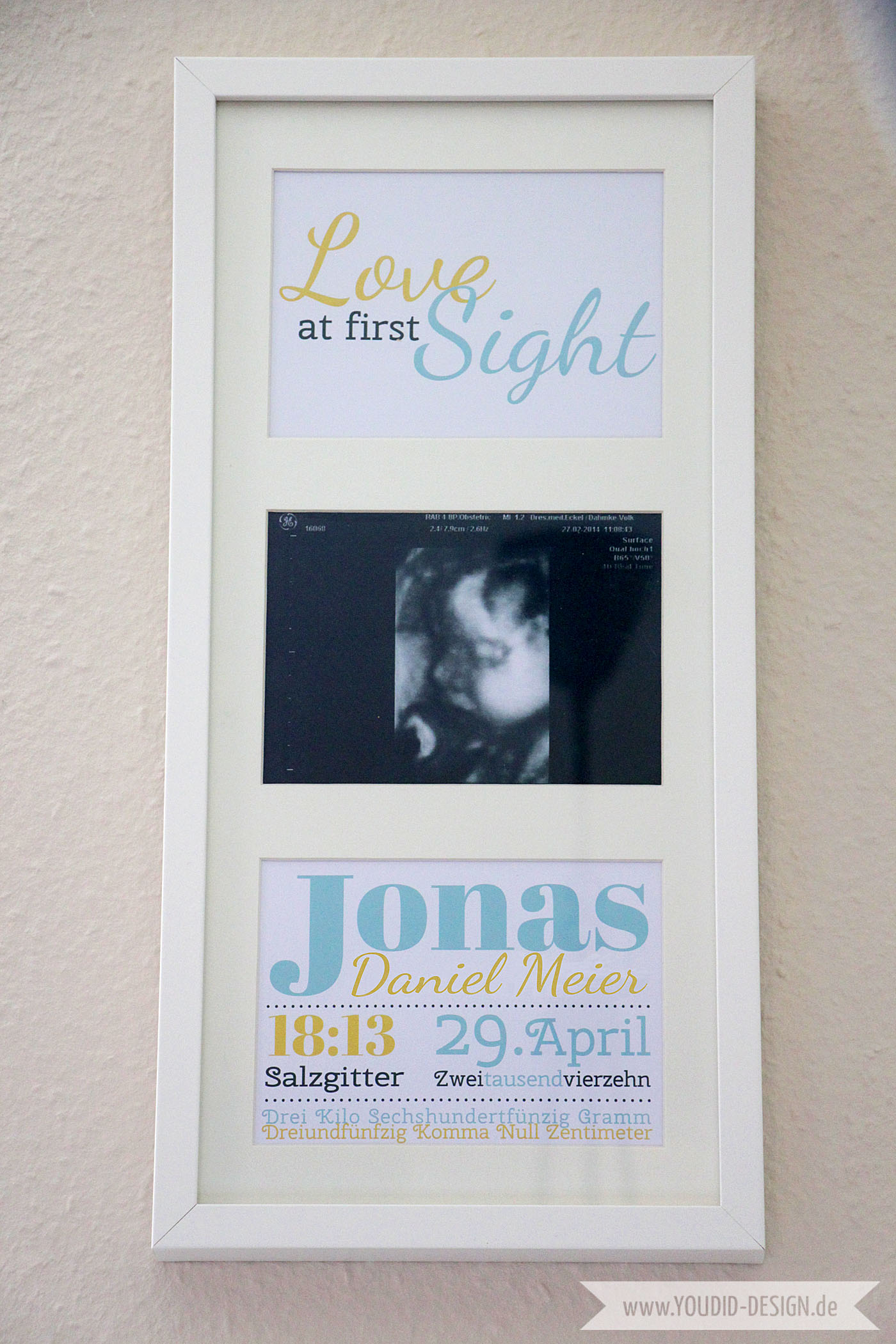 Love at first Sight Babyposter | www.youdid-design.de