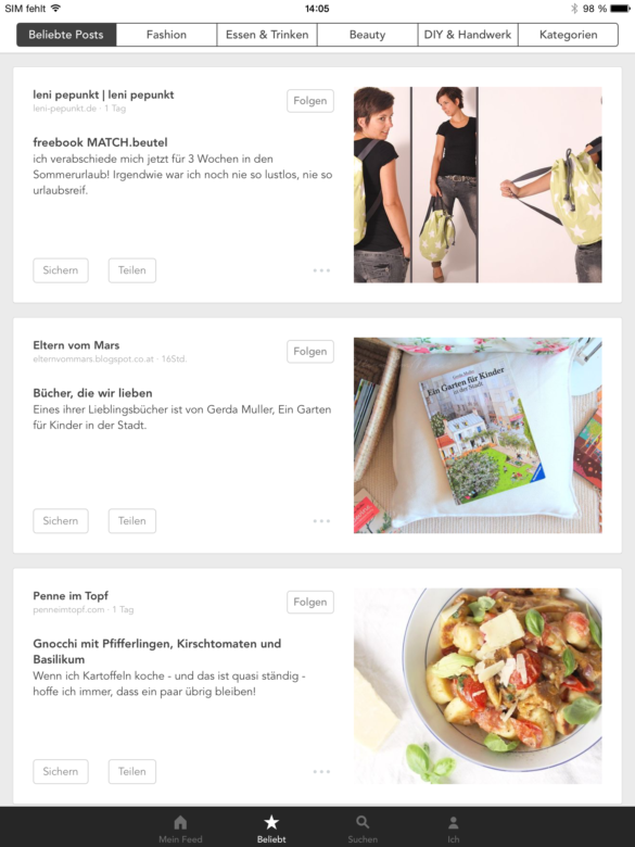 Artikel entdecken auf dem iPad | www.youdid-design.de