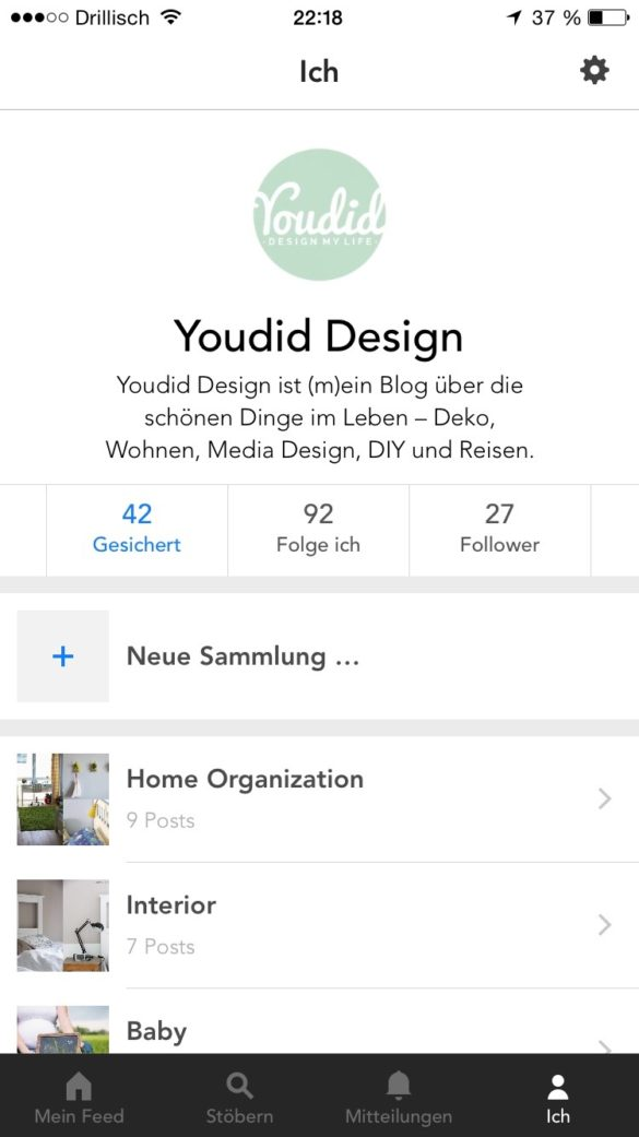 Collections in Bloglovin iPhone - 3 geniale Funktionen von Bloglovin | www.youdid-design.de
