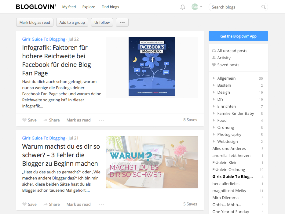 Feed eines Blogs - 3 geniale Funktionen von Bloglovin | www.youdid-design.de