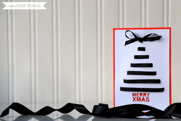 X-mas Tree with Ribbon Card | www.youdid-design.de