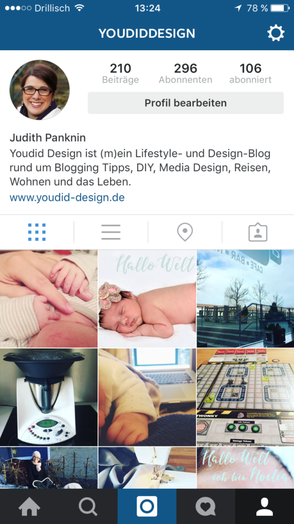 Account switching Instagram Tutorial | www.youdid-design.de