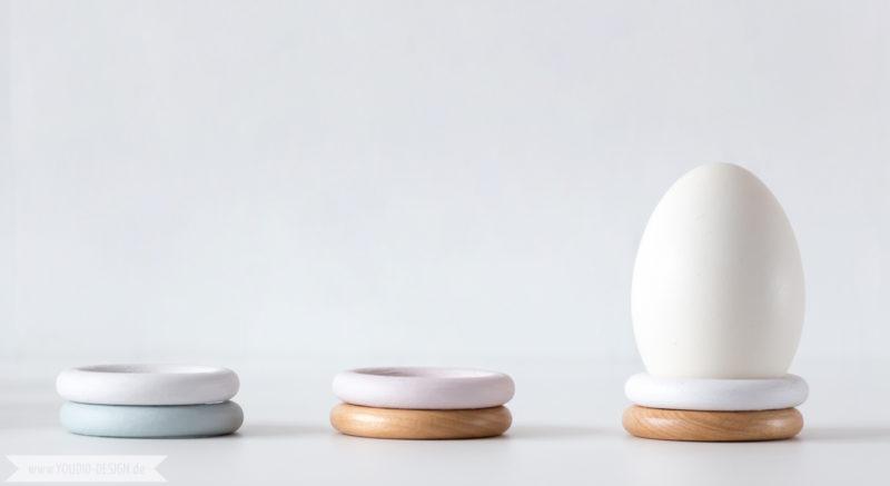 DIY Eggcups in Pastels Eierbecher aus Holzringen | www.youdid-design.de