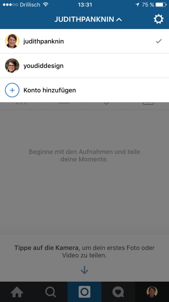 In Instagram mehrere Accounts nutzen und ganz einfach wechseln | www.youdid-design.de