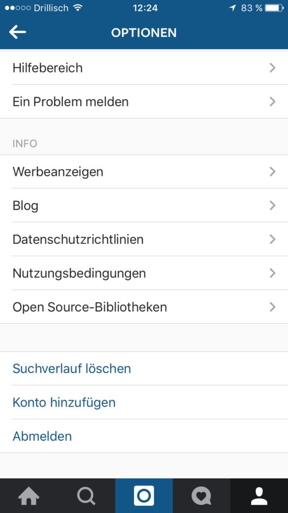 Weiteres Konto in Instagram hinzufügen neue Funktion von Instagram | www.youdid-design.de