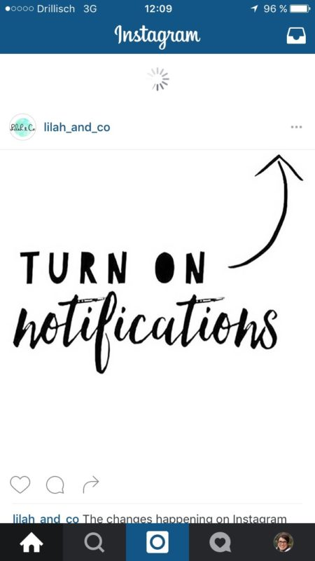 Der neue Instagram Algorithmus - Relevanz statt Chronologie - Turn on your notification | www.youdid-design.de