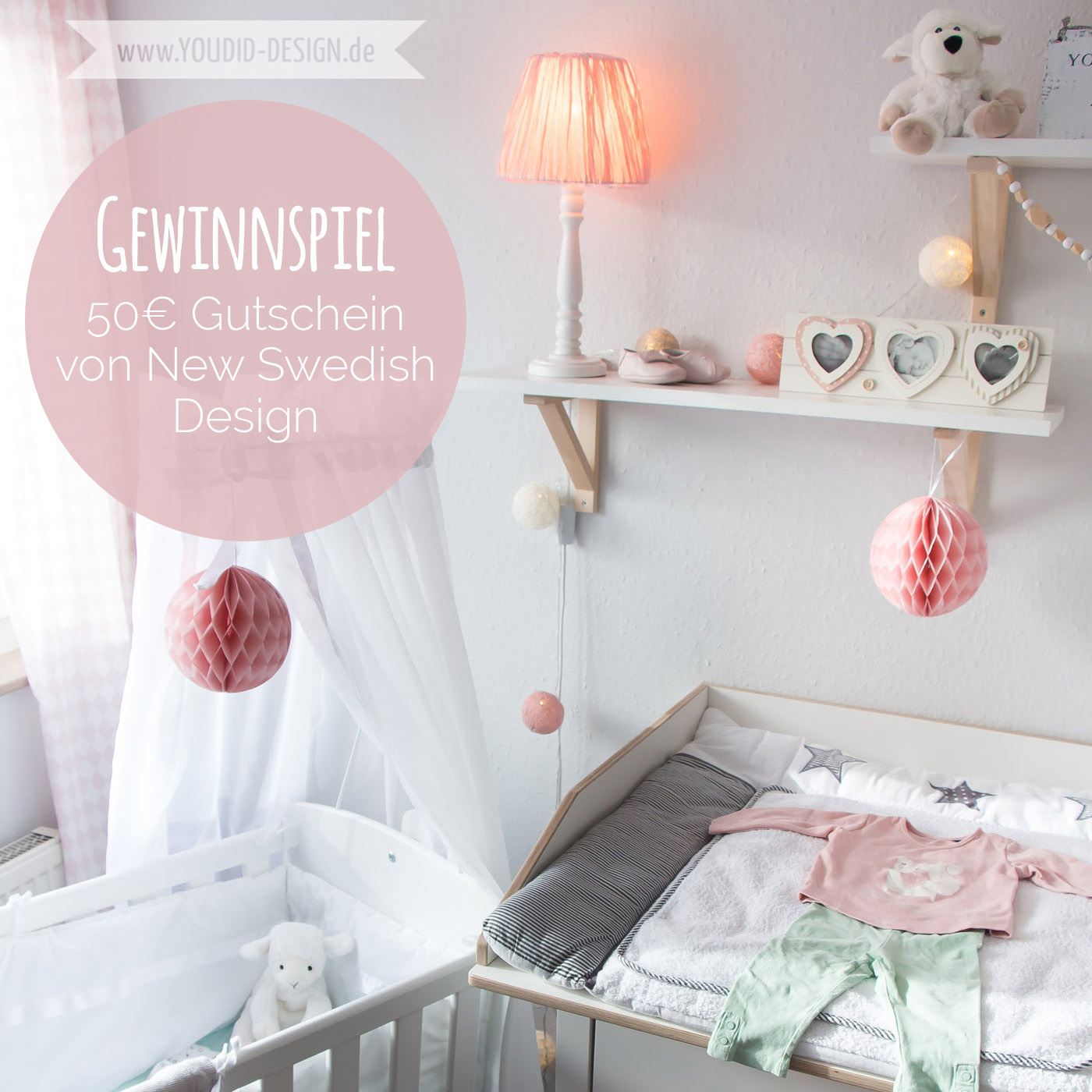 ein skandinavisches kinderzimmer und ein wickelaufsatz f r die ikea hemnes kommode give away. Black Bedroom Furniture Sets. Home Design Ideas