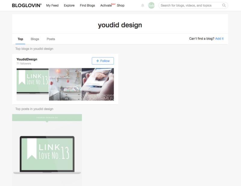 Blog in Bloglovin claimen mit Bloglovin deinen Blog promoten | www.youdid-design.de