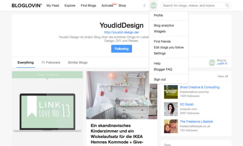 Bloglovin Icon in deinen Blog einbauen und mit Bloglovin deinen Blog promoten | www.youdid-design.de