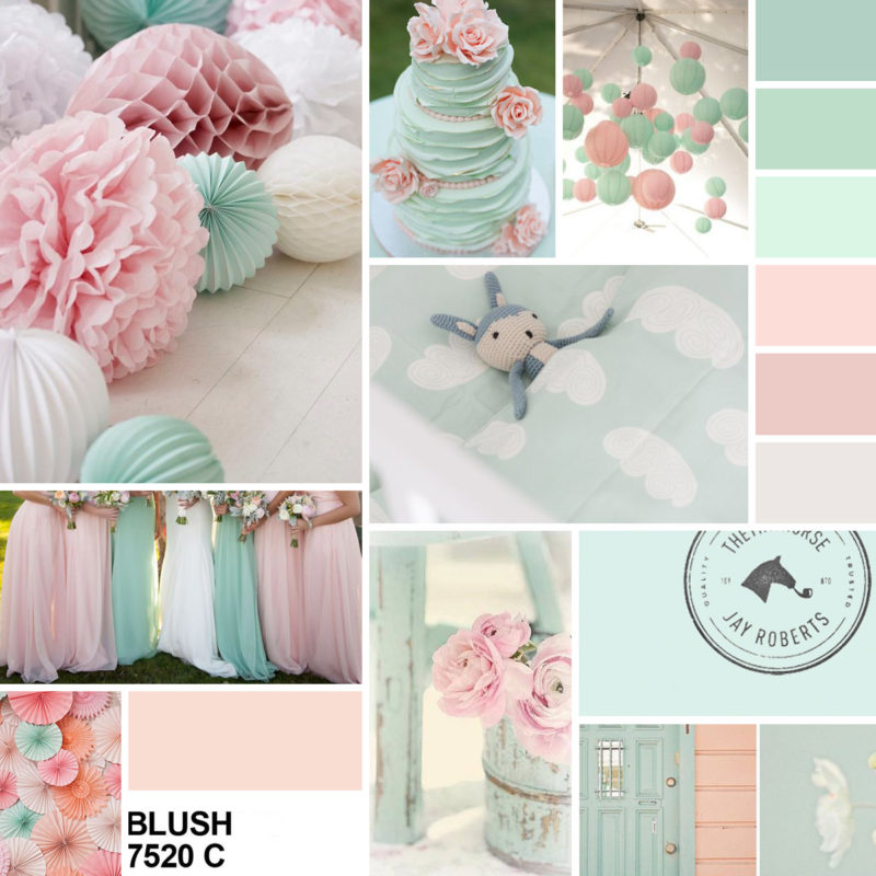 Moodboard in blush pink mint | www.youdid-design.de