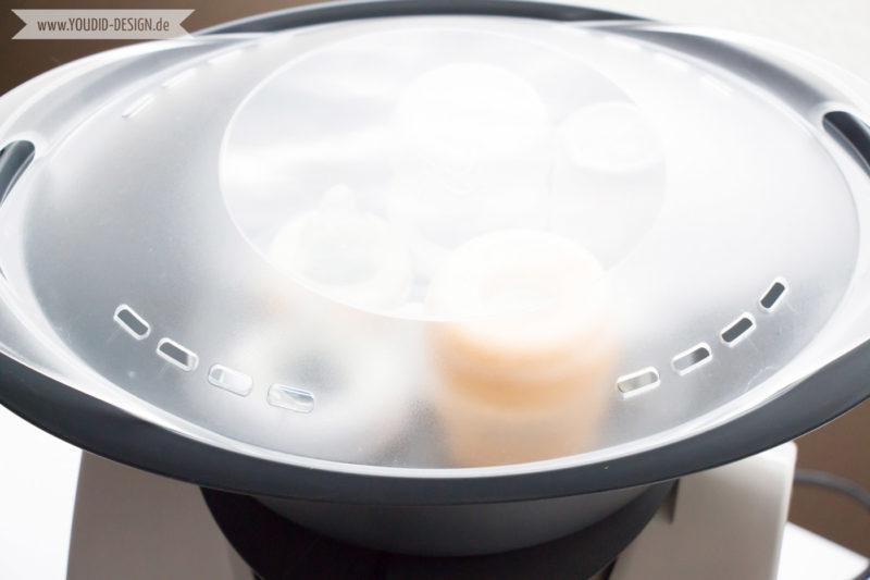 Thermomix als Vaporisator Flaschen sterilisieren | www.youdid-design.de