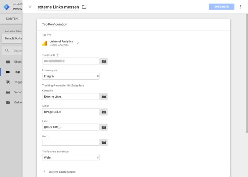 Klicks auf externe Links mit dem Google Tag Manager und Google Analytics messen - Tag einrichten | www.youdid-design.de