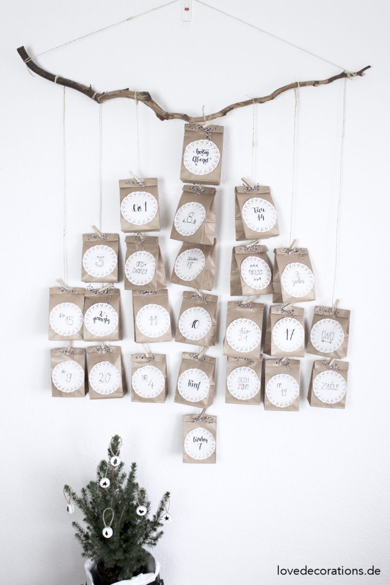DIY Adventskalender Tannenbaum by lovedecorations.de