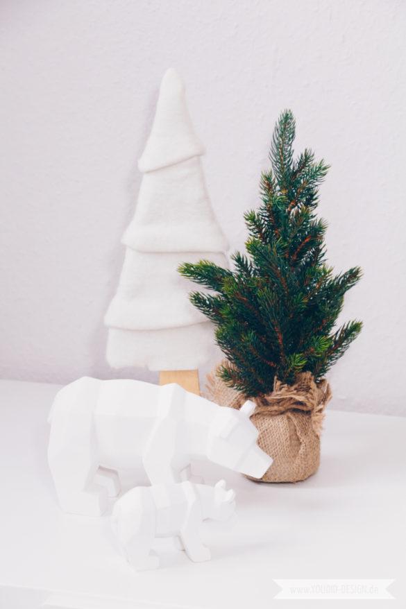 Minimalistische nordische skandinavische Weihnachtsdeko Origami | www.youdid-design.de