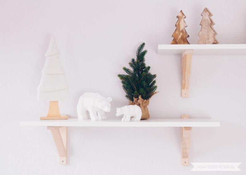 Minimalistische nordische skandinavische Weihnachtsdeko Origami Bär | www.youdid-design.de