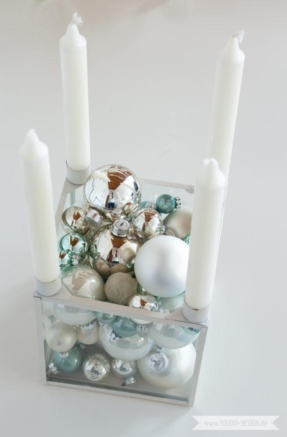 Minimalistische nordische skandinavische Weihnachtsdeko nordic style Christbaumkugeln in mint | www.youdid-design.de