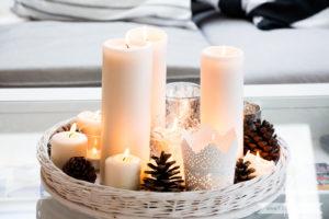 Minimalistische nordische-skandinavische Weihnachtsdeko nordic style mit Tannenzapfen   www.youdid-design.de