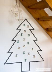 Minimalistische nordische skandinavische Weihnachtsdeko nordic schwarz weiss mint | www.youdid-design.de