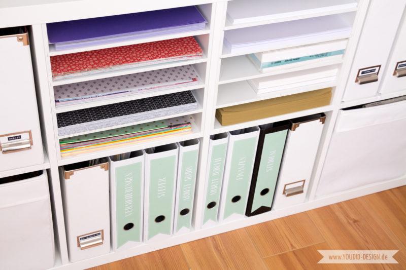 Aufbewahrung Scrapbooking Papier Washi Tape Papieraufbewahrung | www.youdid-design.de