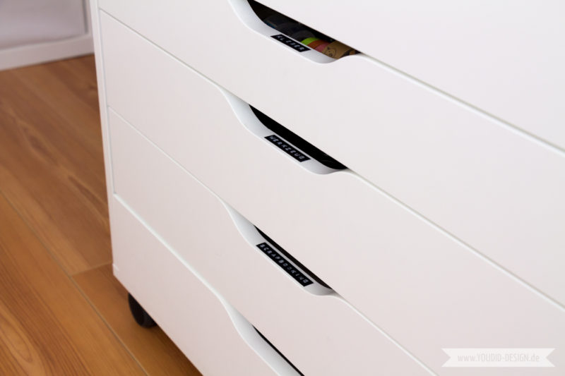 Aufbewahrung für Scrapbooking Papier Papieraufbewahrung Ikea Alex | www.youdid-design.de
