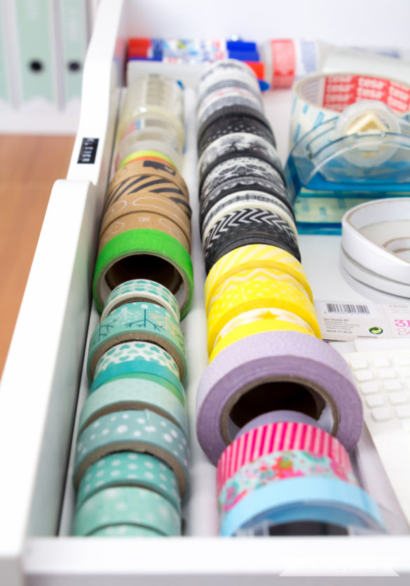 Aufbewahrung für Scrapbooking Papier Washi Tape Ikea Hack | www.youdid-design.de