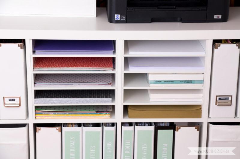 Aufbewahrung für Scrapbooking Papier Washi Tape Papieraufbewahrung | www.youdid-design.de