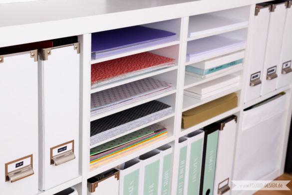 Aufbewahrung für Scrapbooking Papier Washi Tape Papieraufbewahrung Ikea Hack | www.youdid-design.de