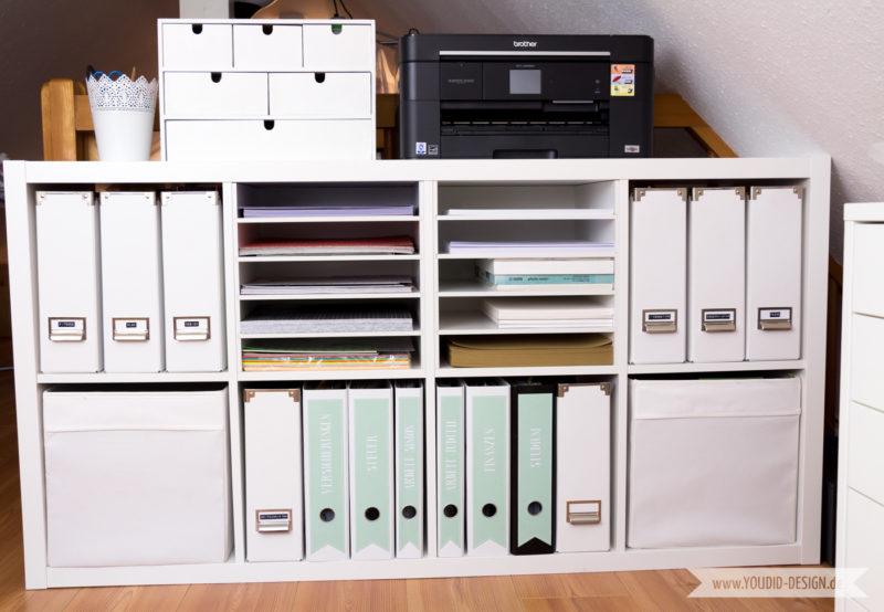 Aufbewahrung für Scrapbooking Papier Washi Tape Papieraufbewahrung Kallax | www.youdid-design.de